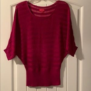 Elle, women's sweater, pink and shimmery size S